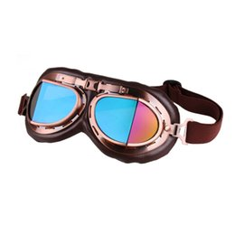 Racing Bicycle Goggles UK - Vintage Motorcycle Goggles Motocross Aviator Pilot Cruiser Glasses Motorbike Racing Bicycle Fashion Oversize Glasses Eyewear