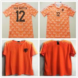 1988 European Cup Classic Vintage Netherlands Home Soccer Jersey 12 VAN  BASTEN 10 Gullit 8 Bergkamp Seedorf 2018 2019 Holland Football Shirt 0b1ac01ca