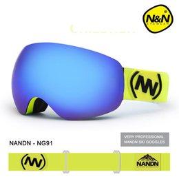 Girls Ski Goggles Australia - NANDN Children's Ski and Snowboarding Duikbril Goggles Double Layers Anti Fog Windproof Large Spherical Glasses Mask Boy Girl