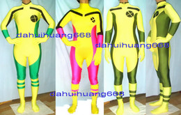 $enCountryForm.capitalKeyWord Australia - Sexy Rogue Body Suit Costumes New 3 Style Lycra Spandex Rogue X-Men Suit Catsuit Costumes Unisex Rogue X-Men Bodysuit Costumes Outfit DH119