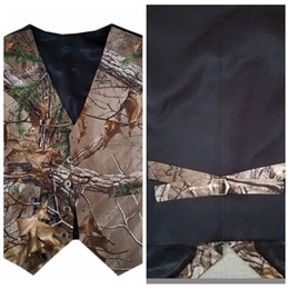 Navy Suits For Sale Australia - Real Tree Cheap Sale Camo Vest For Boy's Formal Wedding Wear 2019 Custom Online Kids Formal Wedding Party Wear Camouflage Vest+Bow