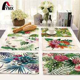 Dinner Table Cloth Australia - 42*32cm Leaves Printed Table Napkins for Wedding Party Table Cloth Dinner Napkin Decor Home Textile guardanapos de tecido