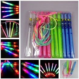 Wholesale Kids Glow Wands Australia - New Flashing Wand LED Glow Light Up Stick Patrol Blinking Concert Party Favors Christmas Supply Random Color mk884