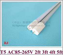 Frost Fluorescent Tubes NZ - AC85-265V input T5 G5 LED tube lamp light fluorescent LED tube 600mm 900mm 1200mm 1500mm aluminum CE WW CW clear frost