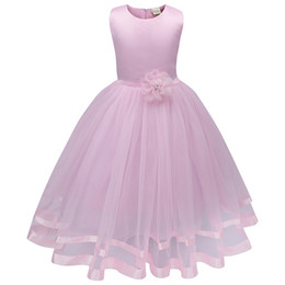 Bridesmaid Tutus Australia - New Flower Girl Princess Dress Kid Party Pageant Wedding Bridesmaid Tutu Dresses Girls Dress Kids Dresses