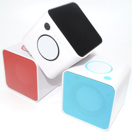 Discount plastic portable bluetooth speaker nfc - Mini Small Cubes Wireless Bluetooth Speakers Insert Cards Outdoor Portable Acoustics Creative Gifts Mobile Phone Square