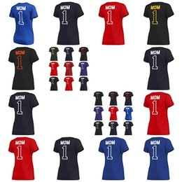 camp wear 2018 - 2018 Custom 30-Teams Outdoor V-Neck T-shirts Mens Womens Kids 1 MOM Red Navy Black Light Blue Chicago Colorado NY Tampa