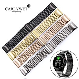 Wholesale CARLYWET mm High Quality Easy Quick Install Replacement Solid Watch Bands Bracelets Straps