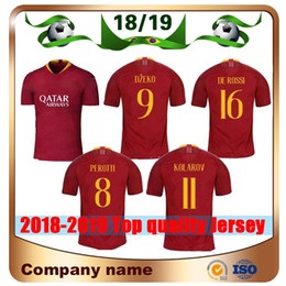 18 19 Rome  9 DZEKO Soccer Jersey 2019 home Red  16 DE.ROSSI Soccer Shirt  Club team NAINGGOLAN EL SHAARAWY Football uniforms Sale ac4eb17b1