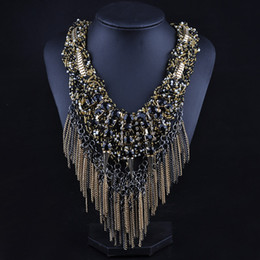 Necklaces Pendants Australia - Unique Beads Tassel Necklaces for Women Pendants Statement Long Sweater Necklace with Acrylic for Women Jewelry