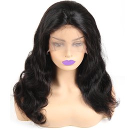 "indian body wave lace front wig Canada - Body Wave Lace Front Wig Indian Virgin Human Hair 10"" 12"" 14"" 16"" 18"" 20"" 22"" Wholesale"