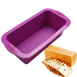 $enCountryForm.capitalKeyWord Canada - Large Size Rectangle Silicone Toast Mould Pastry Bakeware Baking Mold For Cake Bread Molds Kitchen Tools Free Shipping 1780