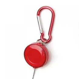 China Portable carry Red Retractable Badge Reel Ballpoint Pens Belt Clip & Carabiner Blue refill Stationery Ballpen Party favor supplier retractable reels clips suppliers