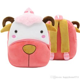 Backpack Zoo Canada - hot new Party gift zoo series baby fashion cute children's bags plush backpack kindergarten early education park bag