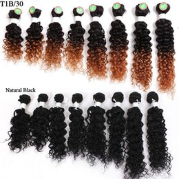 $enCountryForm.capitalKeyWord Australia - Brazilian Deep Curly Hair Bundles Ombre Brown Loose Wave Body 8 pieces Per Pack 8inch 8-14inch Kinky Curly Hair Extension