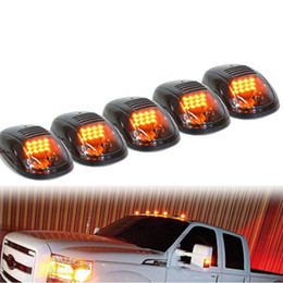 Free Shipping 5pcs Set LED Cab Roof Marker Lights For Car Truck SUV 4x4, Black Smoked Lens on Sale