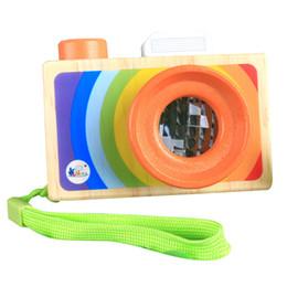 $enCountryForm.capitalKeyWord NZ - Wooden Toy Camera Pretending Toys Baby Wooden Toys Creative Neck Kaleidoscope Lens Camera Photography Prop Decoration