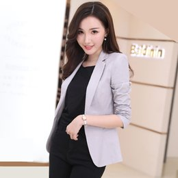 HanOrange 2018 Spring Summer New Korean Style Slim Solid color Suit Jacket  Female Long Sleeve Lady Casual Blazer Plus Size 3XL db441a9bab47