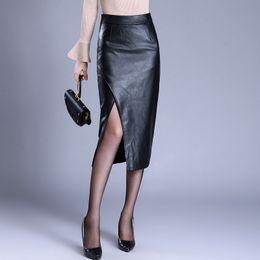 01c13314ea8 Plus Size Long Denim Skirts Australia - 2018 High Waist Bodycon Winter Skirt  Women Sexy Split