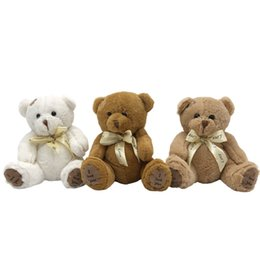 $enCountryForm.capitalKeyWord Canada - 3pcs lot 18CM Stuffed Teddy Bear Dolls Patch Bears Three Colors Plush Toys Best Gift for Children Kids Toy Wedding Gifts