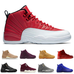 $enCountryForm.capitalKeyWord NZ - 12 12s mens basketball shoes Wheat Dark Grey Bordeaux Flu Game The Master Taxi Playoffs PSNY Purple Blue Red Suede trainers Sports sneakers
