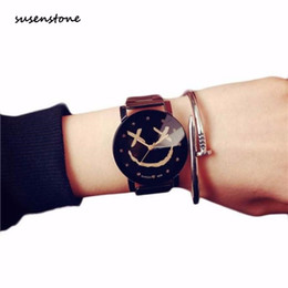 $enCountryForm.capitalKeyWord UK - Susenstone Fashion Luxury Lovers Watch Smiling Face Watch Full Stainless Steel Quartz Clock For Lovers Casual Wrist #13