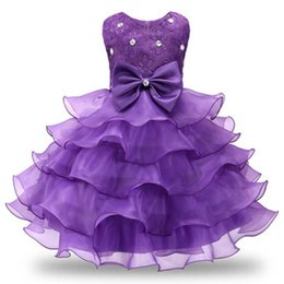 7e37e24e9fca9 Cérémonie De Mariage Costume Robe De Bal Pour Petite Fille 3-8 Ans Robe  Plissée Les Adolescentes Dîner Tenue Occasionnelle