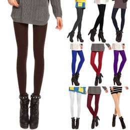 bbbb50ee887 10 Colors Sexy Women Tights 120D Anti-Hook Wire Velvet Pantyhose Warm Thin  Opaque Footed Stocking Fashion Female Collant Hosiery