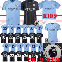 26 MAHREZ soccer jersey city 33 JESUS promotion 17 DE BRUYNE 10 KUN AGUERO  7 STERLING SANE Men Women Kids Kits shirt Jerseys 06684f2e4
