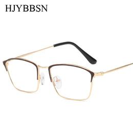 1693d15cbe2 Copper Vintage Square Glasses frame men Female Brand Designer gafas De Sol  Spectacle Plain Glasses Gafas eyeglasses eyewear