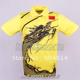 Chinese  Wholesale-Li-Ning Man's London Olympic Games T-Shirt Chinese national flag Ping Pong shirt manufacturers