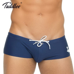d9b0452a79 Taddlee Brand Sexy Men 'S Swimwear Swimsuits Swim Briefs Bikini Solid  Swimming Boxer Brief Gay Penis Pouch Surfing Board Trunks