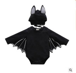 Halloween Costumes Bat Cosplay Baby Onesies Romper Jumpsuit with Hat Long  Sleeve Newborn Baby Girls and Boys Clothes Infant Toddler Overalls 4237157e896