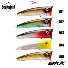 fishing lure packaging wholesale Canada - Baits SeaKnight SK004 5 PCS Lot Good Package 70mm 11g Topwater Artificial Fishing Bait Fishing Lures Poper Popper BKK Hooks Hard Lures