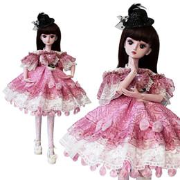 UCanaan Girl Toys 1 3 BJD SD Dolls With Princess Dress Shoes Makeup 19 Ball  Jointed Girls BJD Doll Children Toys 0c879b105301