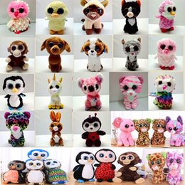 Discount christmas novelty gifts items - Beanie Boos Plush Toy Doll Stuffed Animal Doll Toys Kids Toy Christmas Gift Collection XMas Halloween Novelty Items 15cm