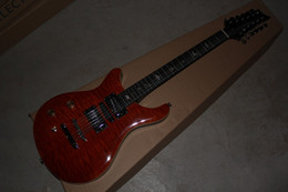 China 12 String Electric Guitars Australia - Factory Wholesale and Retail 12 string Left Handed brown 6 strings Electric Guitar China guitar factory