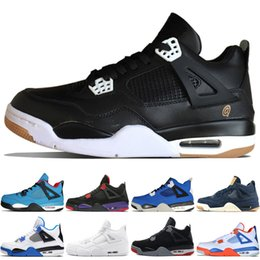 b0db2ade0a90 4 4s Travis Scotts Cactus Jack Mens Basketball Shoes Raptors Kaws Denim  Eminem Pure Money Black Cat men sports sneakers designer trainers