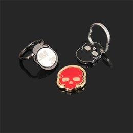Практическая форма черепа Кольцо держатель сотовый прохладный дизайн телефон автомобиль стенд непоседа красочные мода мини портативный кольца кронштейн 45xj ZZ