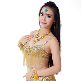 7a17ea4e731 Plunge toP bra online shopping - 1 piece belly dance womens bra sequined  brassiere push up