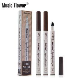 $enCountryForm.capitalKeyWord NZ - Hot Music Flower Four Head Liquid Eyebrow Pen Enhancer Music Flower Waterproof Eyebrow Enhancer