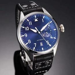 Pilot watch dial online shopping - Top Quality Luxury Wristwatch Big Pilot Midnight Blue Dial Automatic Men s Watch MM Men Mens Watch Watches