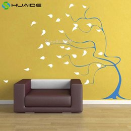 tattoo wall sticker Australia - Lovly Windy Tree Wall Sticker For Kids Room Custom Color Removable Vinyl Baby Room Wall Decal Vinilos Parede Wall Tattoo A618