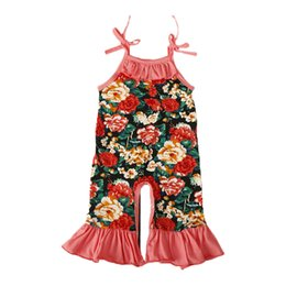 Discount newborn girl clothes boutique - 2018 Summer Infant Sling Jumpsuit Baby Clothes Cotton Leotard Baby Girls Clothing Newborn Rompers Flower Print Boutique