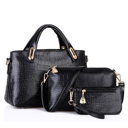 China 3 Sets Handbag Women Composite Bag Female Large Capacity Tote Bag Fashion Shoulder Crossbody Small Purse #F supplier purse sets suppliers