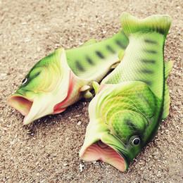 $enCountryForm.capitalKeyWord NZ - Summer Shoes Men Slippers Flip Flops Sandals Lightweight Beach Slippers Personality Women Shoes Fish Slippers Plus size 46 47
