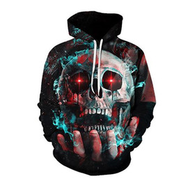 3d hoodies printed sweatshirt UK - 3D Hoodies Skull Sweatshirts Cool Streetwear Casual Sweatshirt Coat Hoody Thin Pullover Lots of Styles Man Women Printed Hoodie