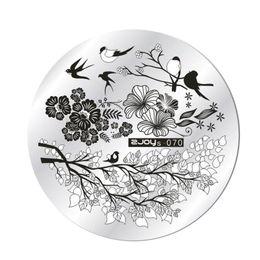 $enCountryForm.capitalKeyWord NZ - ISHOWTIENDA DIY Nail Art Image Stamp 1 Pcs Nail Stamping Plates 2018 Lace Cartoon Animal Flowers Patterns Templates #**