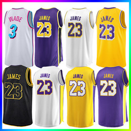 23 LeBron James Men Youth Kids Los Angeles Lakers Basketball Maglie 3 D Wade 11 Kyrie Irving 77 Doncic Mens Maglia da basket