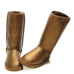 Long snow boots online shopping - designer booties Australian Boots Women Snow Boots Waterproof Leather Winter Warm Outdoor long Boots Winter Shoes Unisex Size US